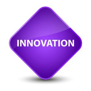 "Purple Diamond Containing Word ""Innovation"""