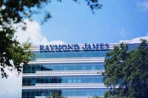 Raymond James Sign on Glassy Building