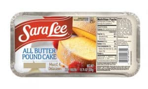 A Sara Lee All-Butter Poundcake