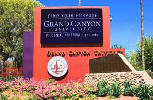 Sign for Grand Canyon University
