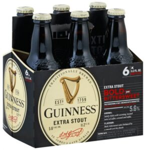 Six-pack of Guinness Extra Stout