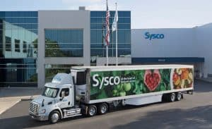 Sysco Truck in Front of Sysco Facility