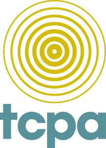 Letters TCPA with Concentric Circle Design