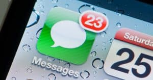 Message Icon on Cell Phone Screen