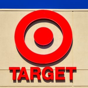 "Name ""Target"" and Red Target Logo on Building"