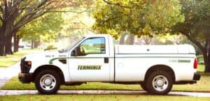 Terminix Truck in Shady, Green Neighborhood