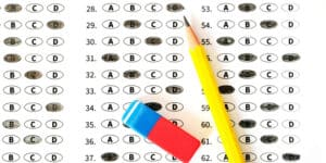 Answer Sheet with Pencil and Eraser