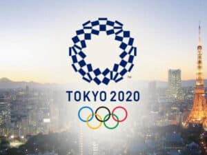 Photo of Tokyo with 2020 Olympic Symbols