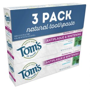 """Tom's of Maine Three-Pack of """"Natural"""" Toothpaste"""