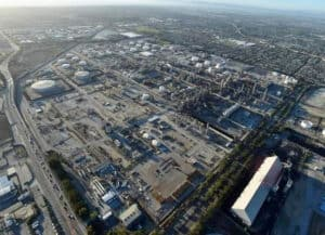 Aerial View of the Exxon Refinery in Torrance