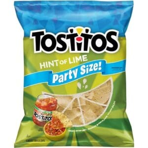Bag of Tostitos Hint of Lime Tortilla Chips