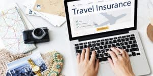 """Travel Insurance"" on Computer Screen"