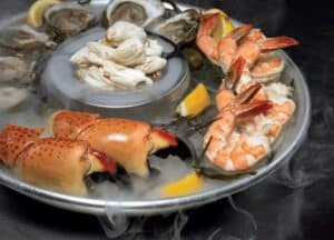 Plate of Seafood at a Truluck's Restaurant