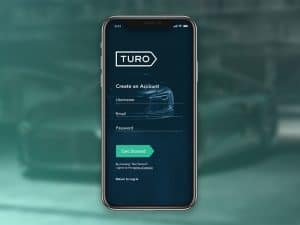 Turo on Smartphone Screen