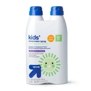 Two-pack of Up & Up Kids' Sunscreen Spray