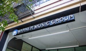 Warner Music Group Name on Building Front