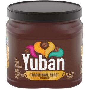 Container of Yuban Coffee