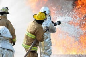 Firefighters Using AFFF