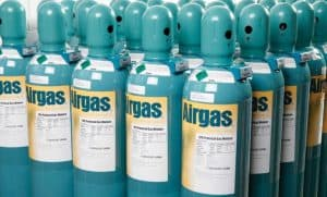 Ranks of Airgas Gas Canisters