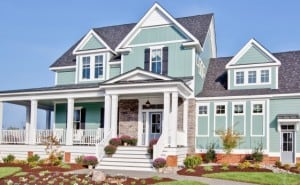 House with Pale Green Allura Siding
