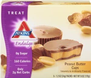 Box of Atkins Peanut Butter Cups
