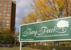 Bay Park Facility Sign in Front of Building