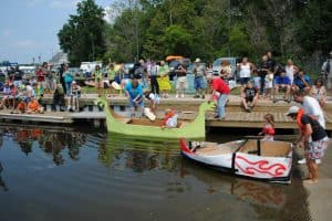 Recycled Boat Event in Blades, Delaware