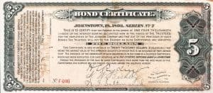 Example of Bond Certificate