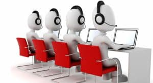 Row of Call Center Workers