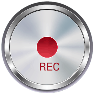 "Silver Button with Center Red Spot Labels ""REC"""