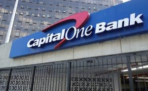 Sign Above Capital One Branch