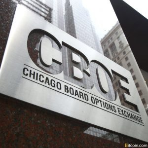 CBOE Sign on Building