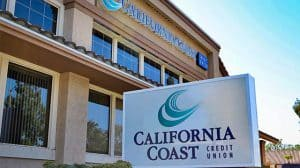 California Coast Credit Union Sign Outside Branch