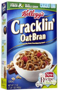Box of Kellogg's Cracklin' Oat Bran