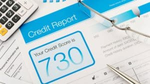 Credit Report Showing Score of 730