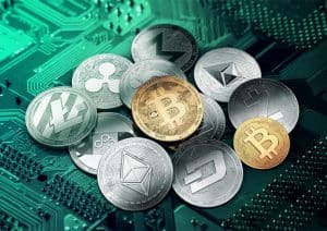 Pile of Cryptocurrency Coins