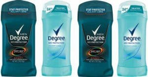 Degree Brand Male and Female Antiperspirants