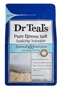 Bag of Dr. Teal's Pure Epsom Salt Soaking Solution—Detoxify & Energize with Ginger & Clay