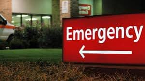 Sign at Emergency Room