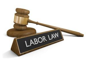 """Gavel and Sign """"Labor Law"""""""
