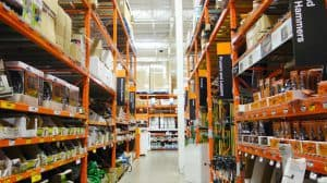 Interior Aisle of a Home Depot Store