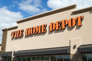 Home Depot Sign on Store Front