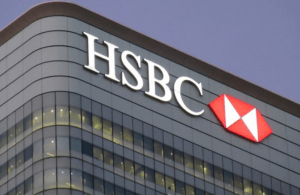 "Letters ""HSBC"" and Logo on Building"