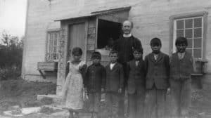 Old Photo of an Indian Day School