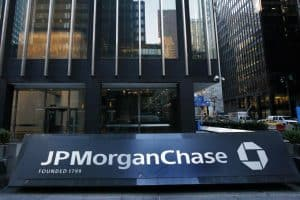 JPMorgan Chase Sign in Front of Tall Building