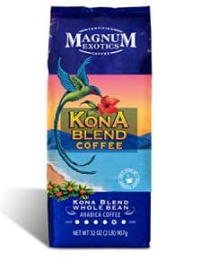 Package of Magnum Exotics Kona Blend Coffee