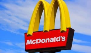 McDonald's Sign with the Golden Arches Above