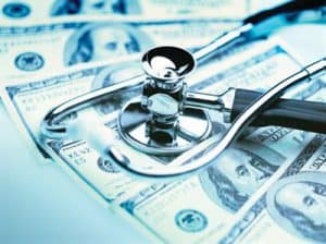 Stethoscope on Hundred-Dollar Bills
