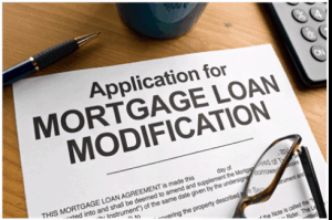 "Paper with Heading ""Mortgage Loan Modification"""