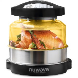 NuWave Oven Pro with Whole Chicken Inside